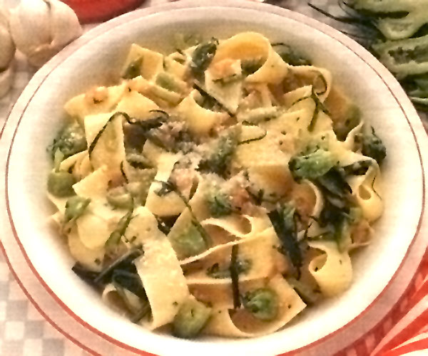 Pappardelle in verde